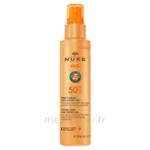Nuxe Sun Spf50 Spray Fondant Visage Et Corps Fl/150ml à VIC-FEZENSAC