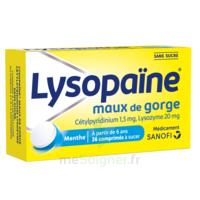 LysopaÏne Comprimés à Sucer Maux De Gorge Sans Sucre 2t/18 à VIC-FEZENSAC