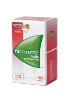 Nicorette 2 Mg Gomme à Mâcher Médicamenteuse Sans Sucre Fruits Plq/105 à VIC-FEZENSAC