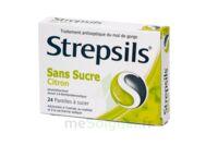 Strepsils Citron Sans Sucre, Pastille édulcorée à L'isomalt, Au Maltitol Et à La Saccharine Sodique à VIC-FEZENSAC