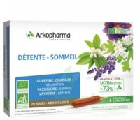 Arkofluide Bio Ultraextract Solution Buvable Détente Sommeil 20 Ampoules/10ml à VIC-FEZENSAC