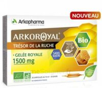 Arkoroyal Gelée Royale Bio Sans Sucre 1500mg Solution Buvable 20 Ampoules/10ml à VIC-FEZENSAC