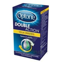 Optone Double Action Solution Oculaire Yeux Irrités Fl/10ml