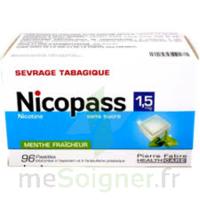 Nicopass 1,5 Mg Pastille Sans Sucre Menthe Fraîcheur Plq/96 à VIC-FEZENSAC