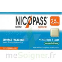 Nicopass 2,5 Mg Pastille Menthe Fraîcheur Sans Sucre Plq/36 à VIC-FEZENSAC
