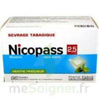 Nicopass 2,5 Mg Pastille Menthe Fraîcheur Sans Sucre Plq/96 à VIC-FEZENSAC