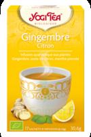 Yogi Tea Tisane Ayurvédique Gingembre Citron Bio 17 Sachets/1,8g à VIC-FEZENSAC