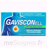 Gavisconell Coprimés à Croquer Sans Sucre Menthe édulcoré à L'aspartam Et à L'acésulfame Potas Plq/24 à VIC-FEZENSAC