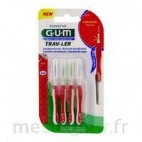 Gum Trav - Ler, 0,8 Mm, Manche Rouge , Blister 4 à VIC-FEZENSAC