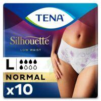Tena Lady Silhouette Slip Absorbant Blanc Normal Large Paquet/10 à VIC-FEZENSAC