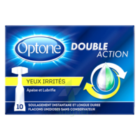 Optone Monodose Double Action Solution Oculaire Yeux Irrités B/10 à VIC-FEZENSAC